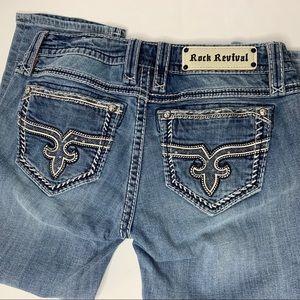 Rock Revival Capri Crop Jeans Denim Pants Size 28